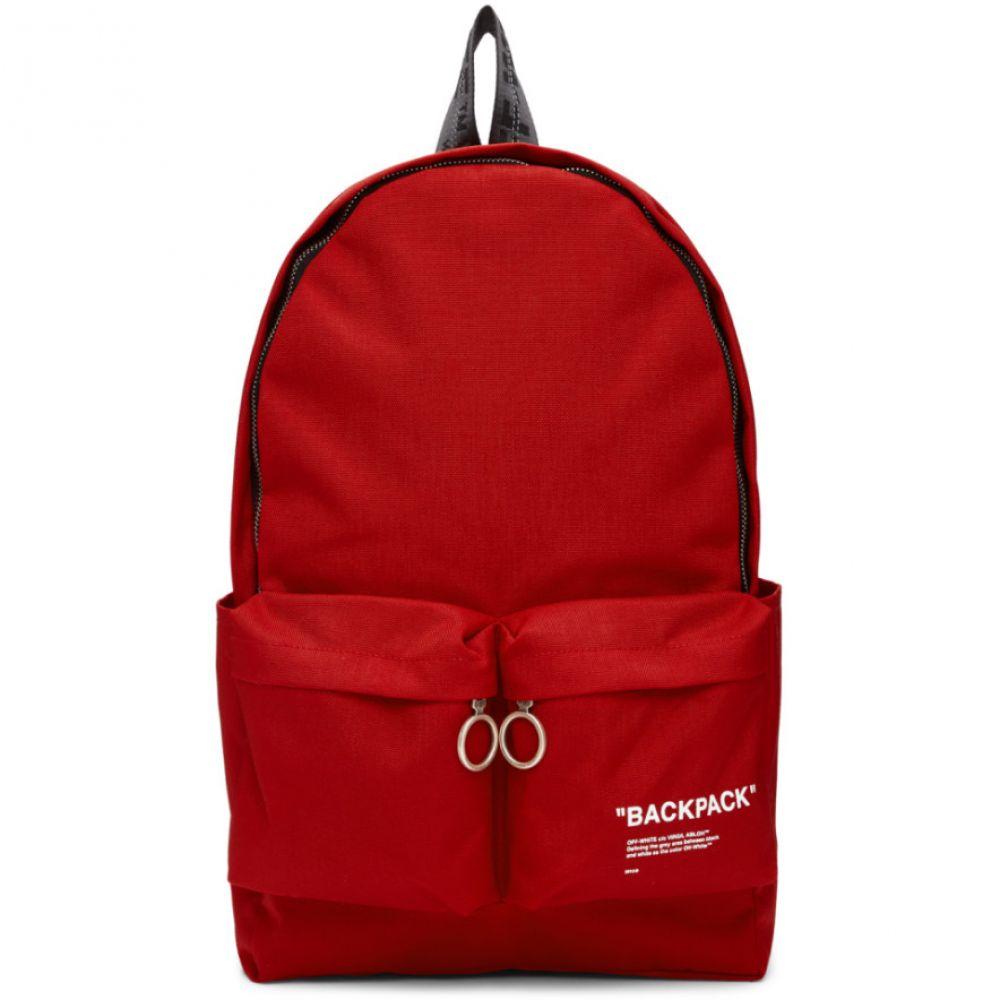 オフホワイト Off-White メンズ バックパック・リュック バッグ【Red Quote Backpack】Red/Black