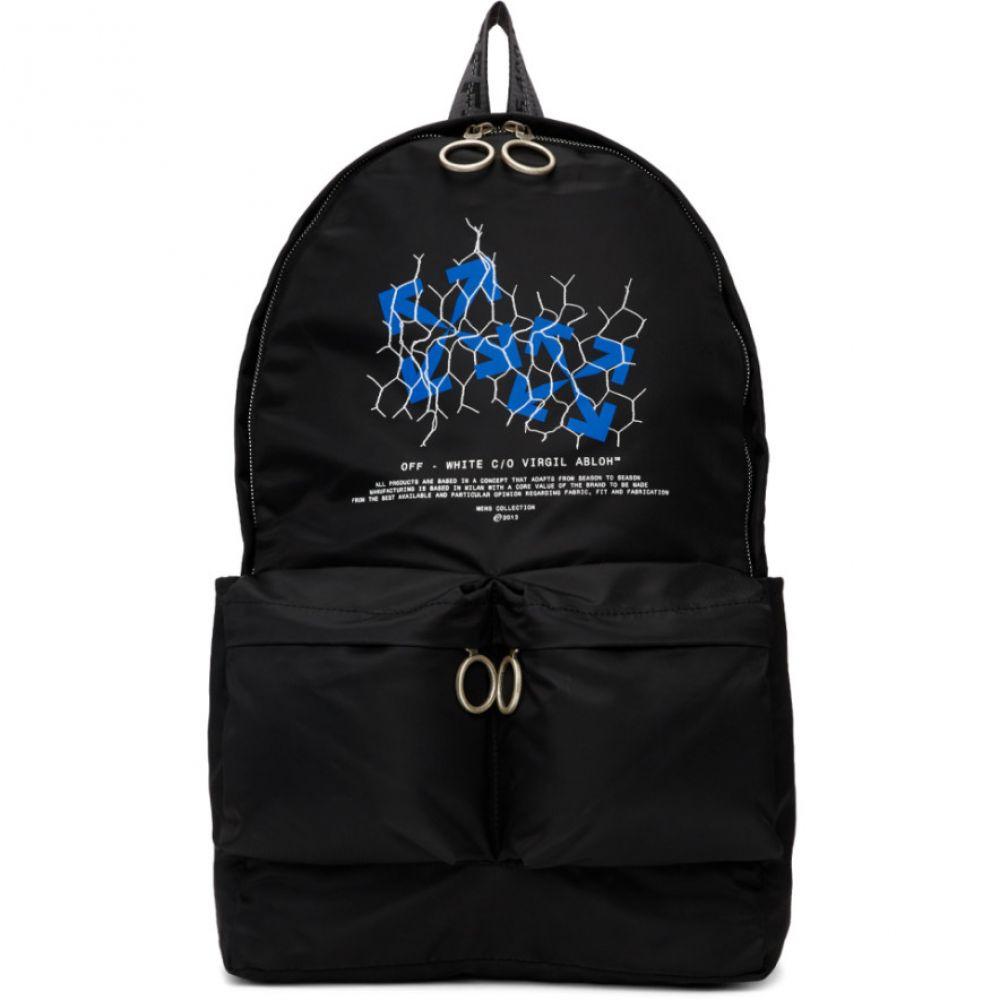 オフホワイト Off-White メンズ バックパック・リュック バッグ【Black Fence Arrows Backpack】Black/Multicolor