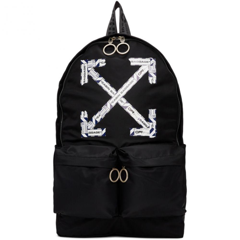 オフホワイト Off-White メンズ バックパック・リュック バッグ【Black Airport Tape Backpack】Black/Multicolor