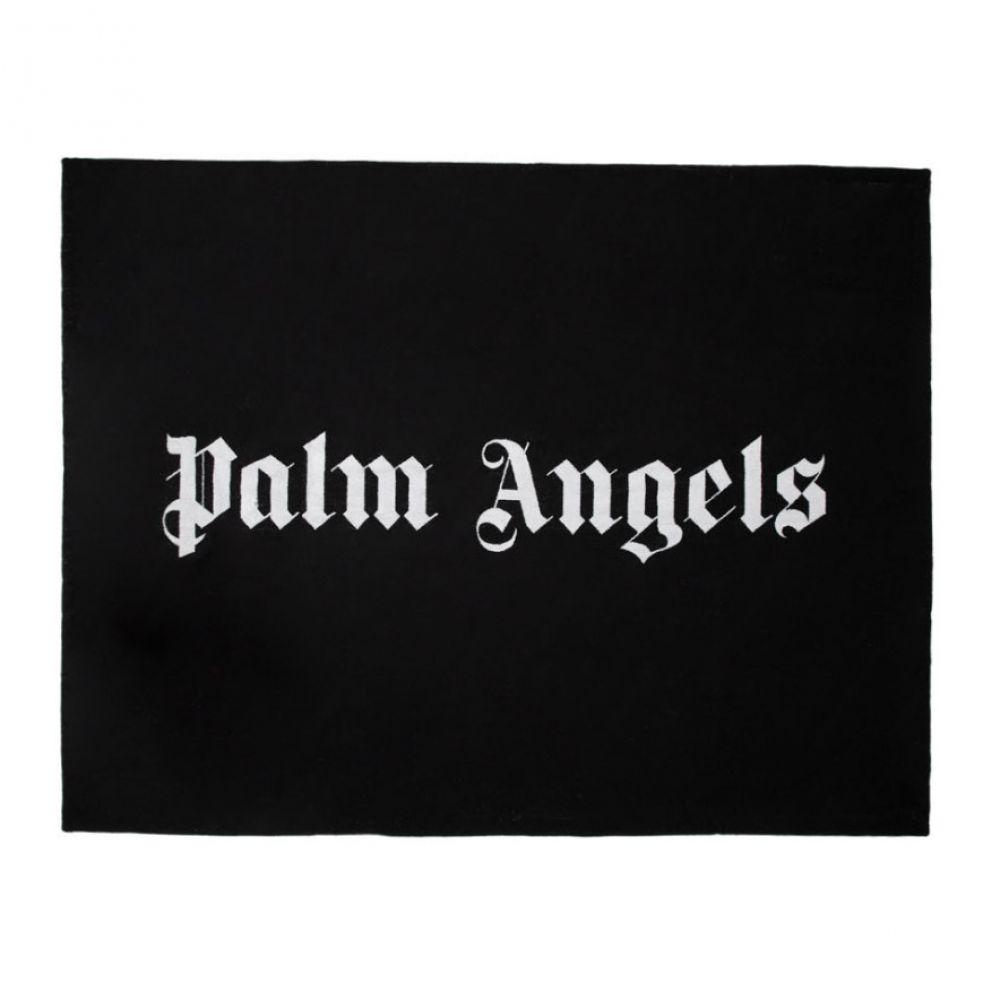 パーム エンジェルス Palm Angels メンズ ビーチタオル 水着・ビーチウェア【Black Logo Beach Towel】Black/White
