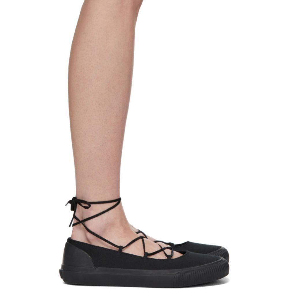 ワイズ Y's レディース スニーカー シューズ・靴【Black Cross Ballet Sneakers】Black