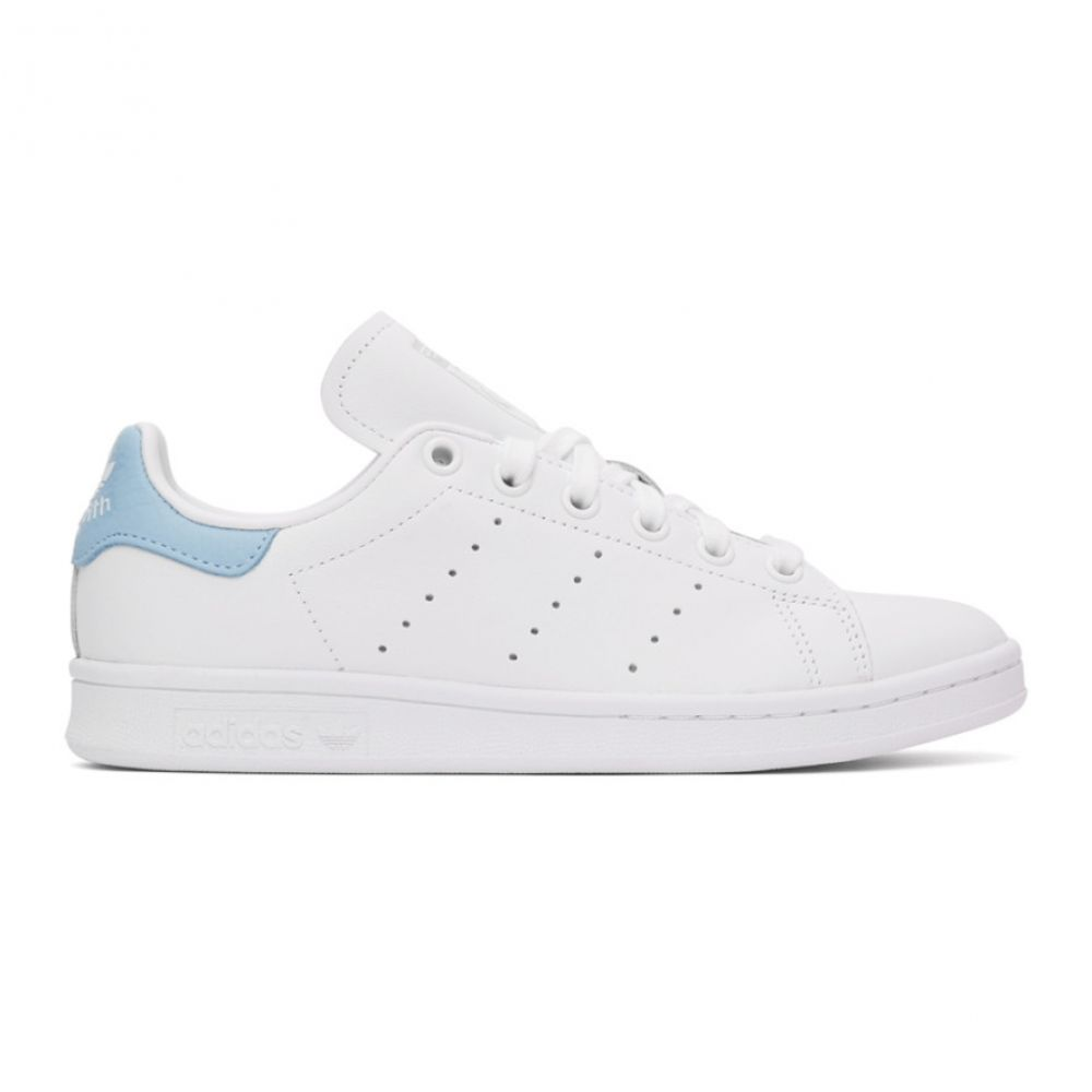 アディダス adidas Originals レディース スニーカー スタンスミス シューズ・靴【White & Blue Stan Smith Sneakers】Cloud white/Cloud white/Sky blue