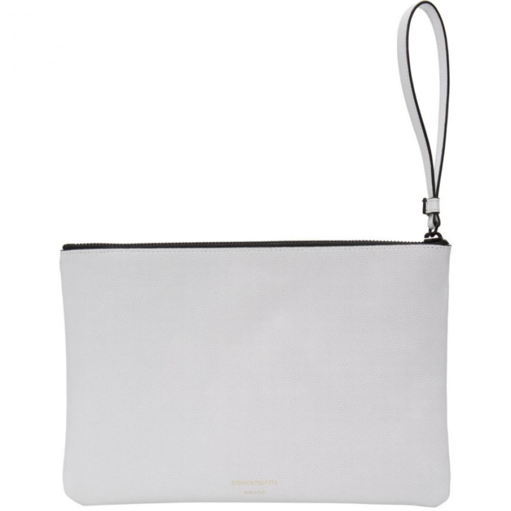 コモン プロジェクト Common Projects メンズ ポーチ 【White Medium Leather Flat Pouch】White
