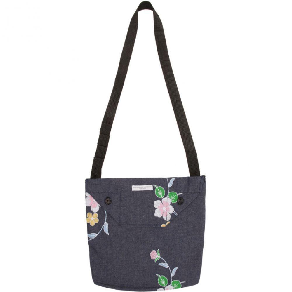 エンジニアードガーメンツ Engineered Garments メンズ ショルダーバッグ バッグ【Indigo Denim Floral Mini Shoulder Pouch】Indigo