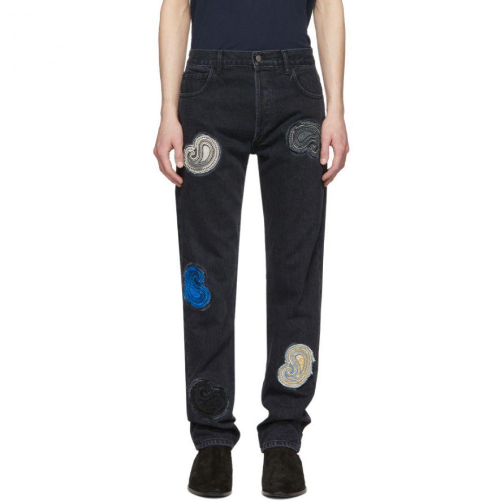 ナミアス Nahmias メンズ ジーンズ・デニム ボトムス・パンツ【Black Paisley Embroidered Jeans】Black