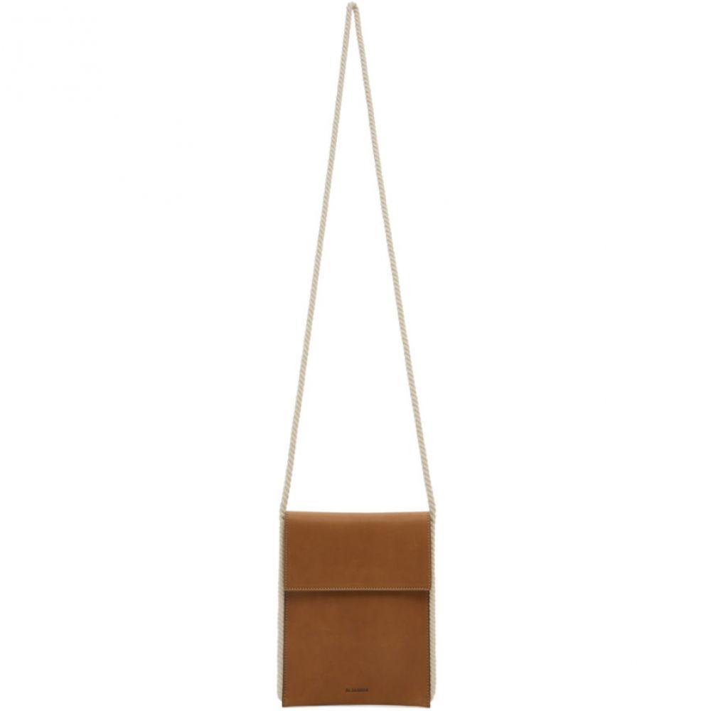 ジル サンダー Jil Sander メンズ メッセンジャーバッグ バッグ【Brown Flat Crossbody Bag】Med brown