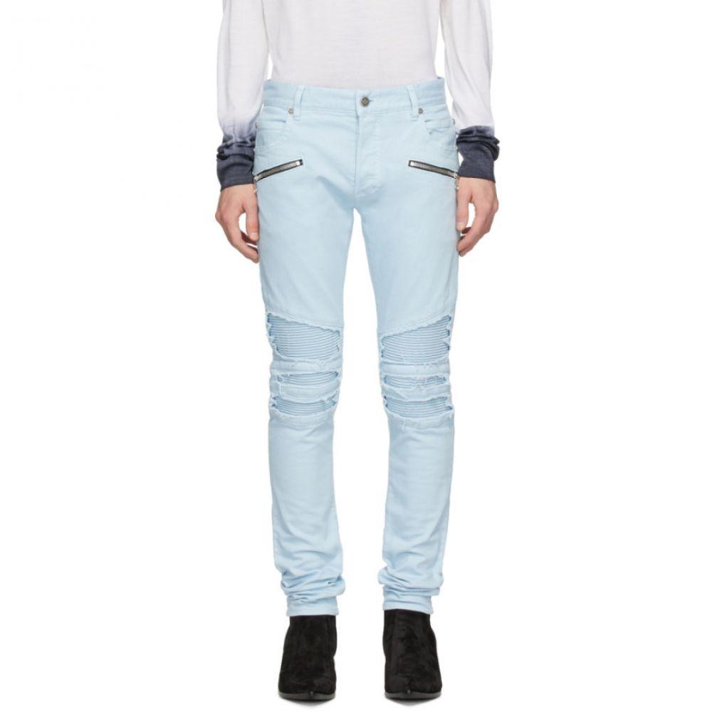 バルマン Balmain メンズ ジーンズ・デニム ボトムス・パンツ【Blue Ribbed Jeans】Blue