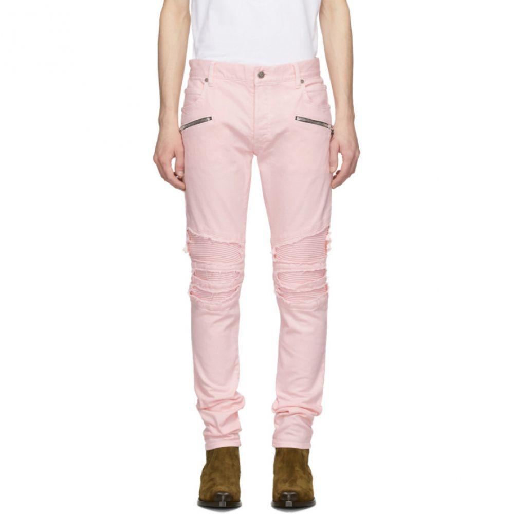 バルマン Balmain メンズ ジーンズ・デニム ボトムス・パンツ【Pink Ribbed Jeans】Pink