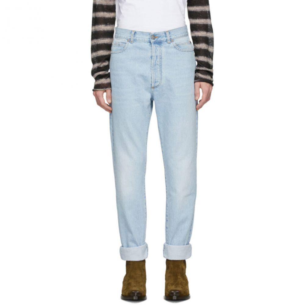 バルマン Balmain メンズ ジーンズ・デニム ボトムス・パンツ【Blue High-Waisted Jeans】Blue