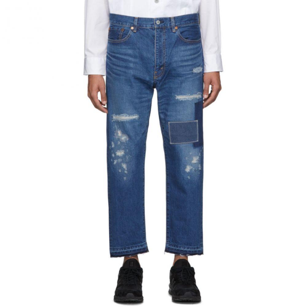 ジュンヤ ワタナベ Junya Watanabe メンズ ジーンズ・デニム ボトムス・パンツ【Indigo Garment-Treated Patch Jeans】Indigo