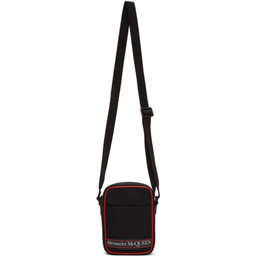 アレキサンダー マックイーン Alexander McQueen メンズ メッセンジャーバッグ バッグ【Black & Red Mini Messenger Bag】Black/Red