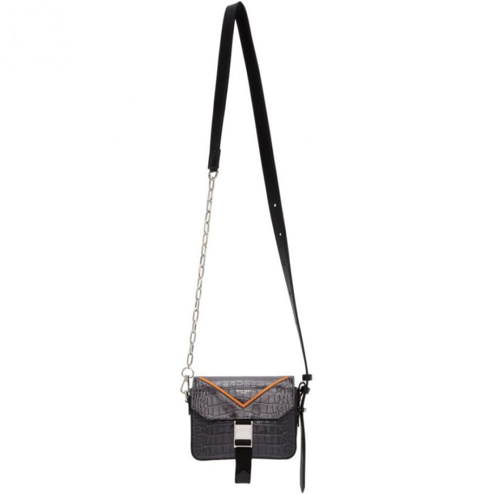 ジバンシー Givenchy メンズ メッセンジャーバッグ バッグ【Grey Croc Paris Bond Messenger Bag】Grey/Orange