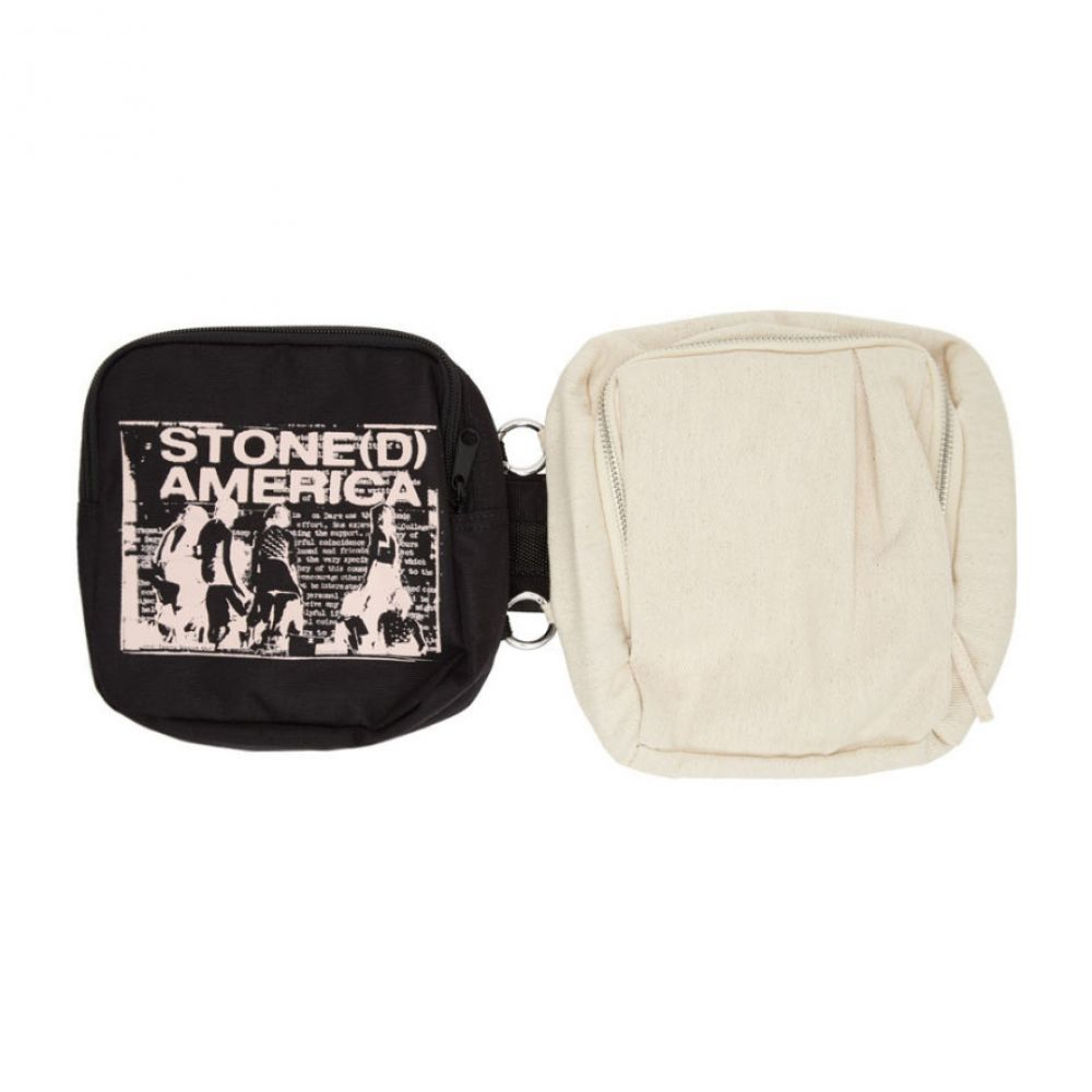ラフ シモンズ Raf Simons メンズ メッセンジャーバッグ バッグ【SSENSE Exclusive Black & Beige Eastpak Edition America Messenger Bag】Beige/Black