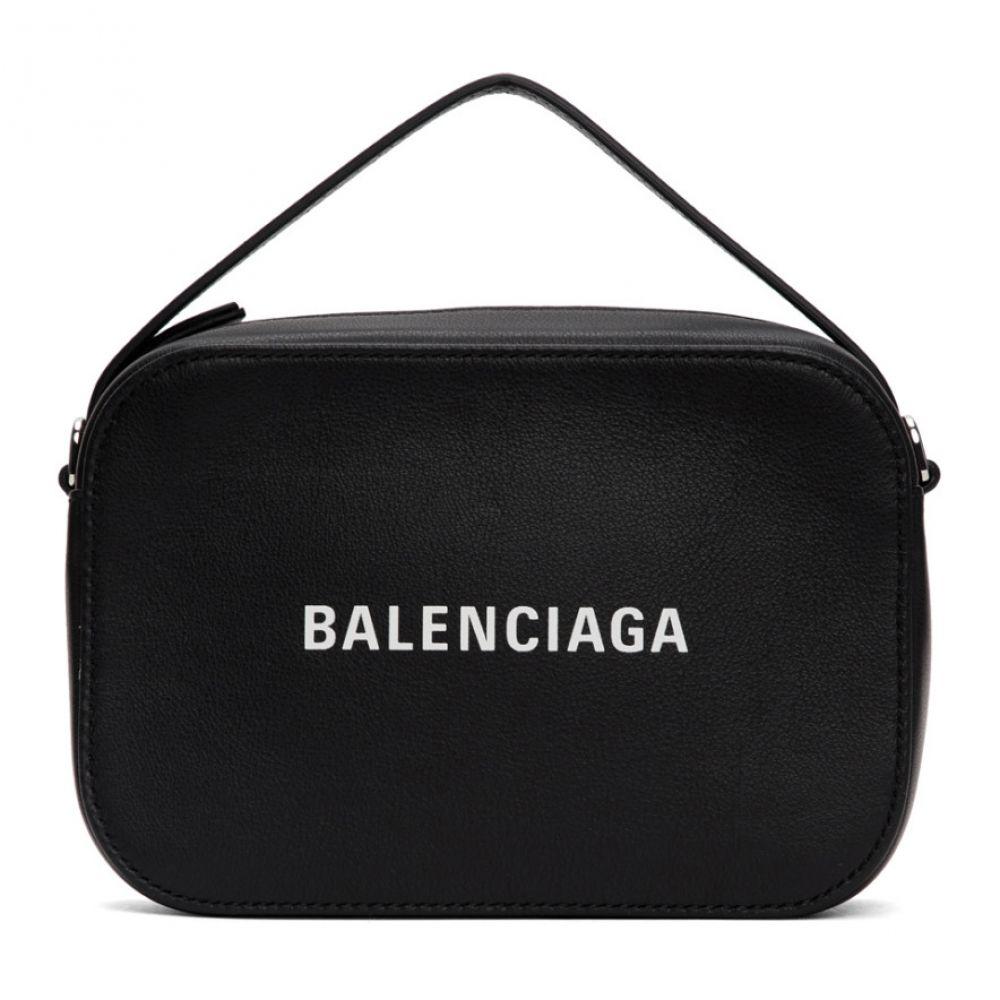 バレンシアガ Balenciaga メンズ メッセンジャーバッグ バッグ【Black Logo Messenger Bag】Black/White