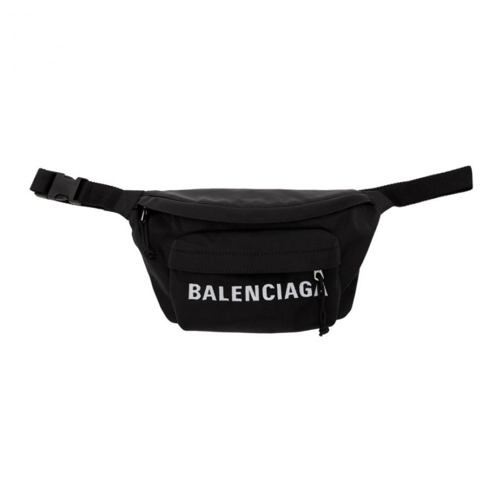 バレンシアガ Balenciaga メンズ ボディバッグ・ウエストポーチ バッグ【Black Logo Sport Belt Bag】Black