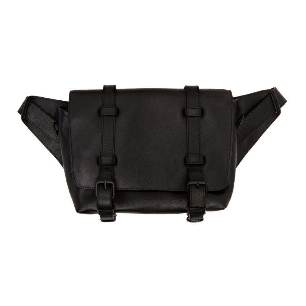 ドリス ヴァン ノッテン Dries Van Noten メンズ メッセンジャーバッグ バッグ【Black Leather Messenger Bag】Black