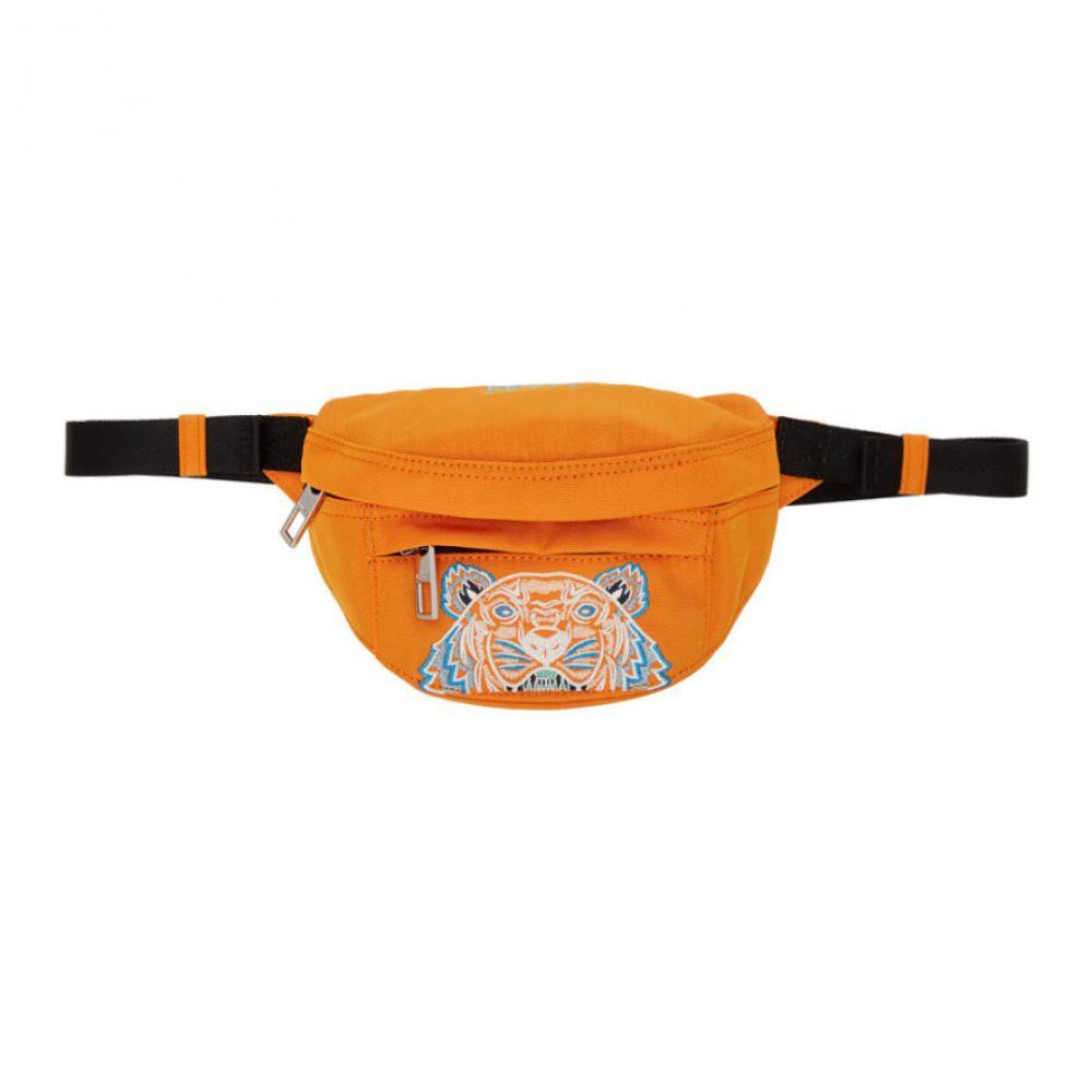 ケンゾー Kenzo メンズ ボディバッグ・ウエストポーチ バッグ【Orange Mini Canvas Tiger Bum Bag】Orange