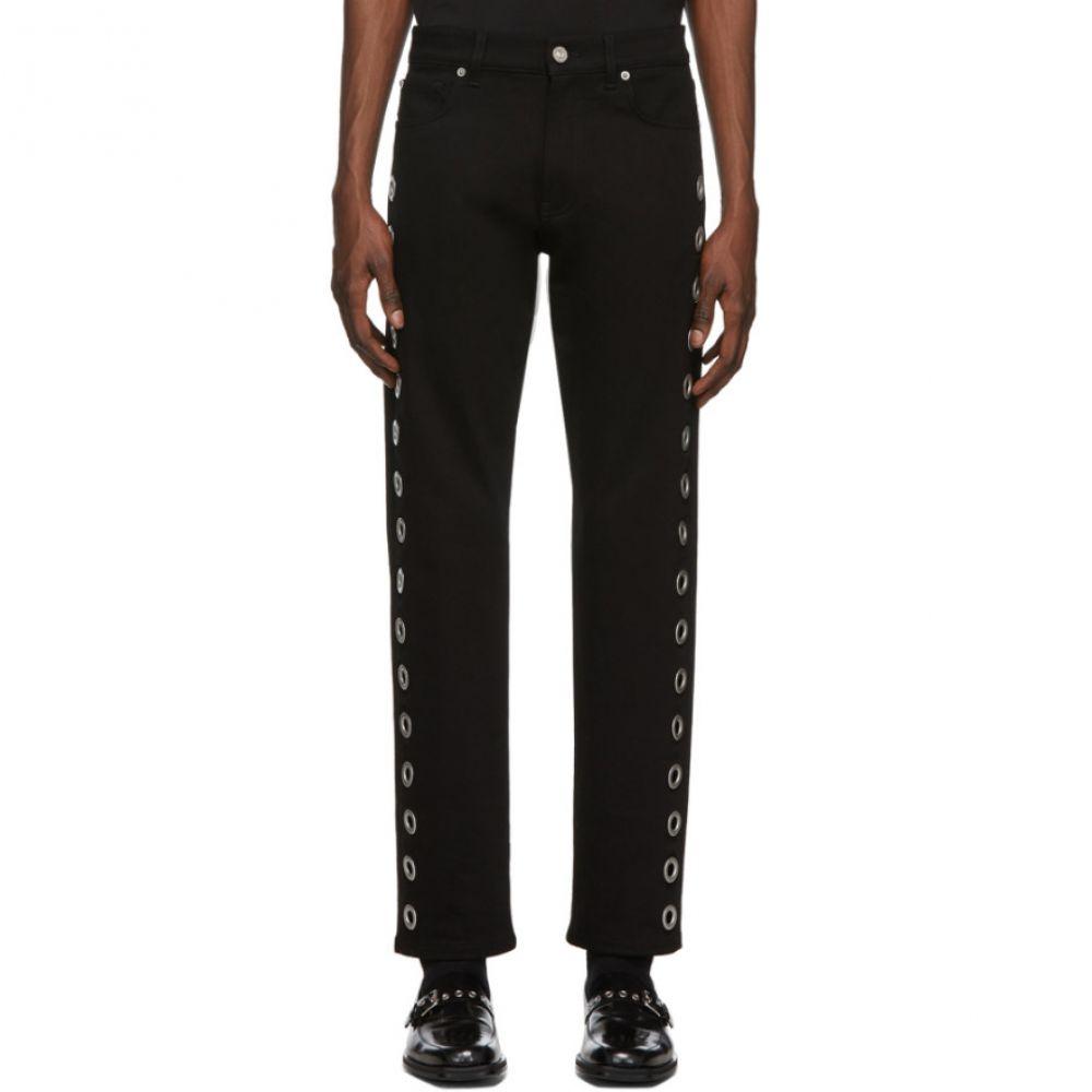 ヴェルサーチ Versace メンズ ジーンズ・デニム ボトムス・パンツ【Black Ring Jeans】Black