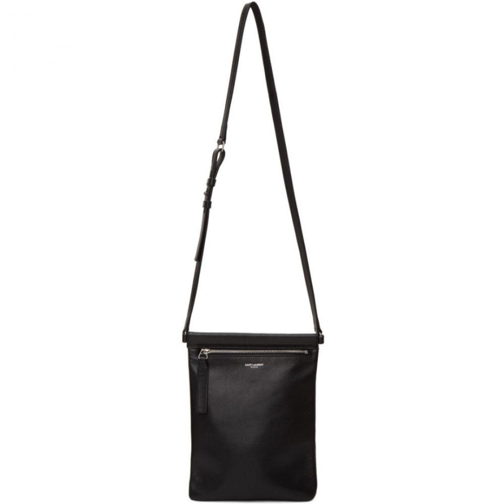 イヴ サンローラン Saint Laurent メンズ メッセンジャーバッグ バッグ【Black Flat Sid Cross Body Bag】Black
