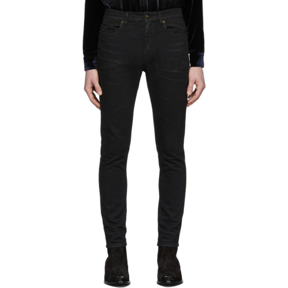 イヴ サンローラン Saint Laurent メンズ ジーンズ・デニム ボトムス・パンツ【Black Coated Skinny Jeans】Black/Light coated