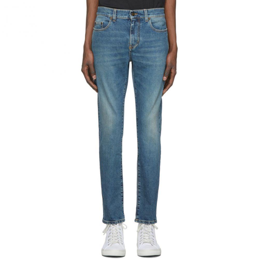 イヴ サンローラン Saint Laurent メンズ ジーンズ・デニム ボトムス・パンツ【Blue Skinny 5 Pocket Jeans】Dusk