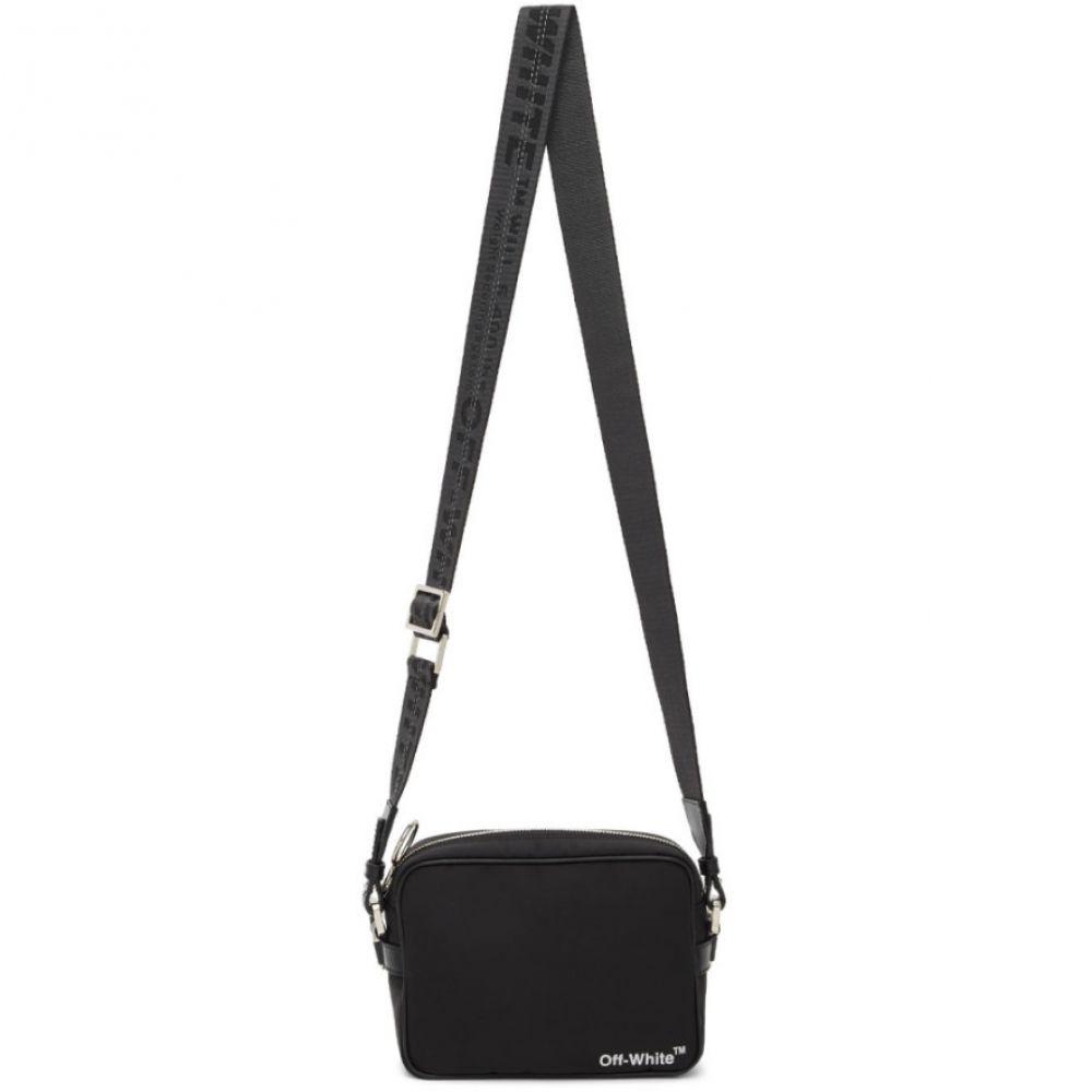 オフホワイト Off-White メンズ メッセンジャーバッグ バッグ【SSENSE Exclusive Black Crossbody Bag】Black/White