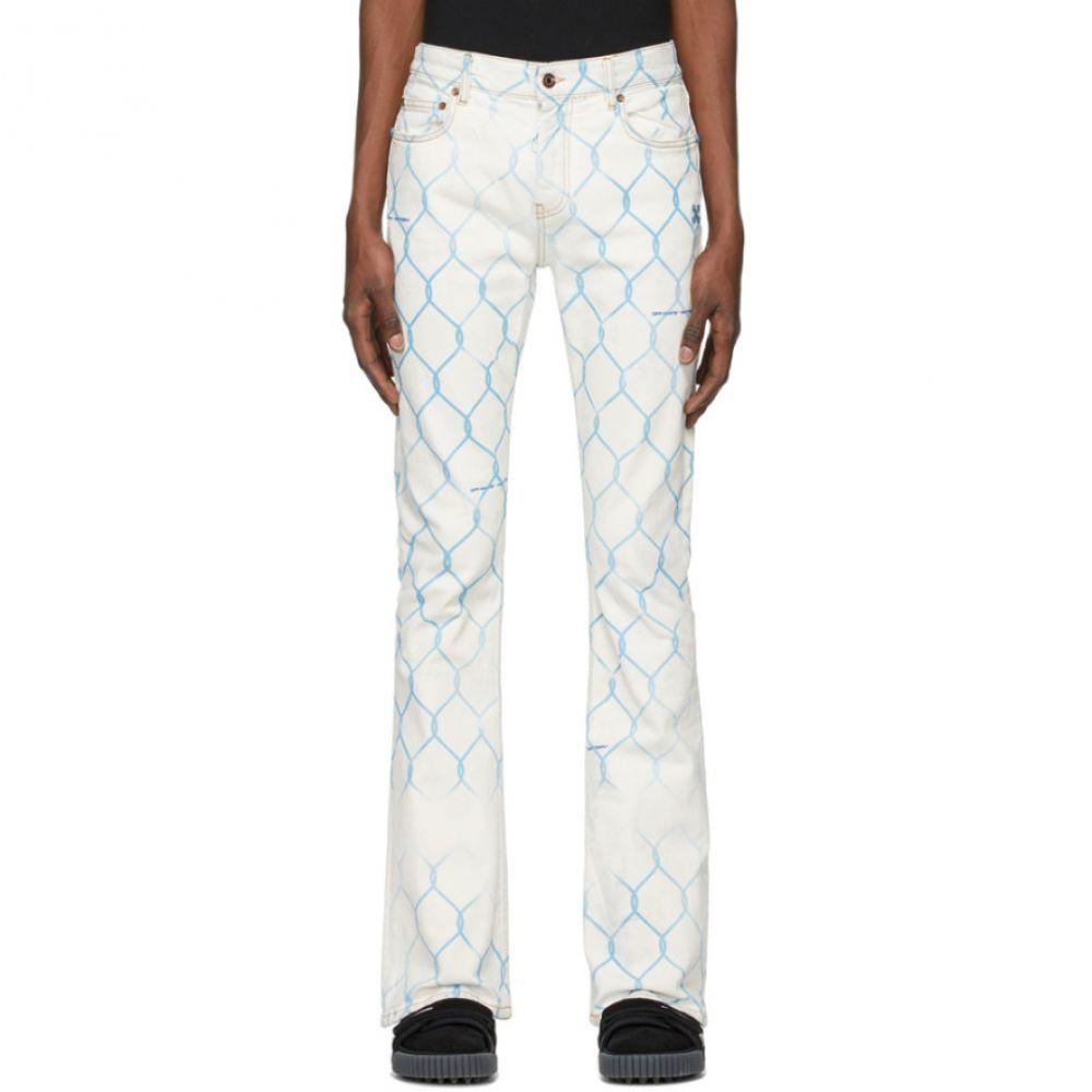 オフホワイト Off-White メンズ ジーンズ・デニム ボトムス・パンツ【Fence Stacked Skinny Jeans】Bleach light