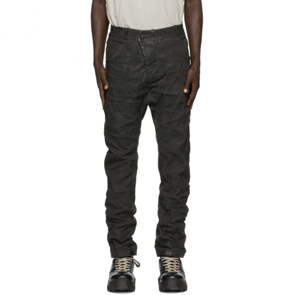 ボリス ビジャン サベリ Boris Bidjan Saberi メンズ ジーンズ・デニム ボトムス・パンツ【Black Crinkled Jeans】Dark grey