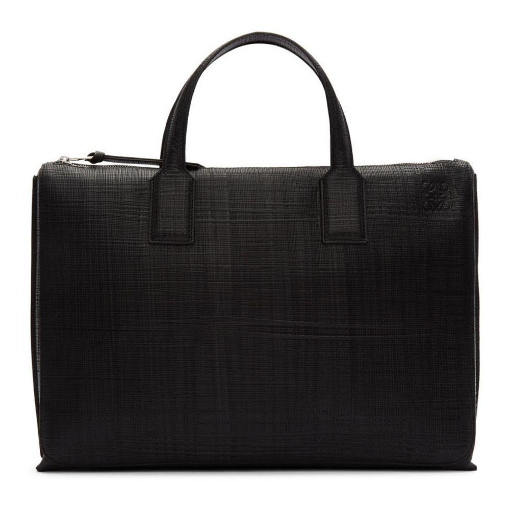 ロエベ Loewe メンズ ビジネスバッグ・ブリーフケース バッグ【Black Textured Goya Simple Briefcase】Black