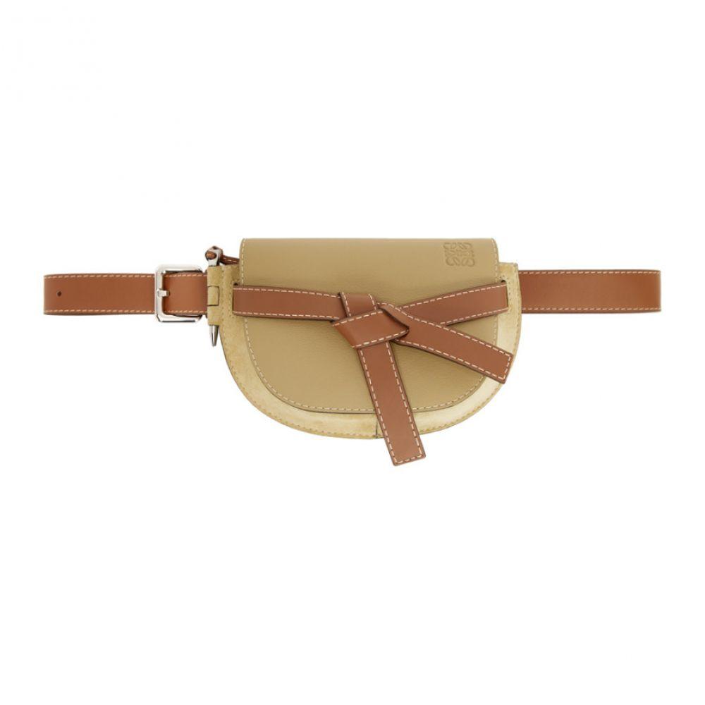 ロエベ Loewe メンズ ボディバッグ・ウエストポーチ バッグ【Beige Large Gate Bum Bag】Gold