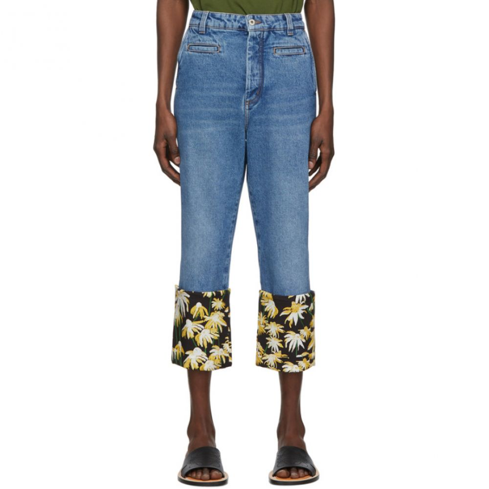 ロエベ Loewe メンズ ジーンズ・デニム ボトムス・パンツ【Blue Daisy Fisherman Jeans】Blue