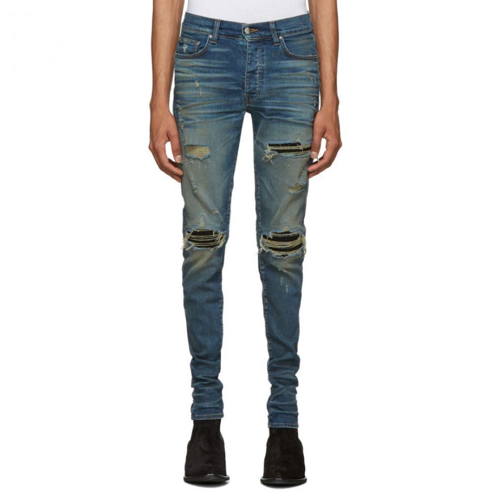 アミリ Amiri メンズ ジーンズ・デニム ボトムス・パンツ【Indigo & Black MX1 Jeans】Deep indigo/Black