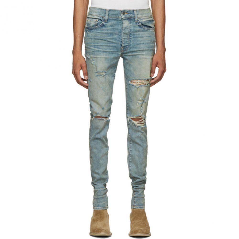 アミリ Amiri メンズ ジーンズ・デニム ボトムス・パンツ【Indigo Thrasher Classic Jeans】Dust indigo