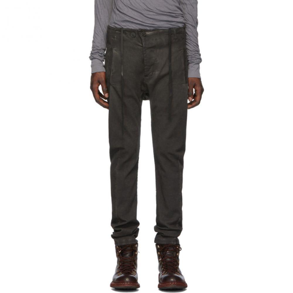 ボリス ビジャン サベリ Boris Bidjan Saberi メンズ ジーンズ・デニム ボトムス・パンツ【Grey Double Dyed Jeans】Patina grey