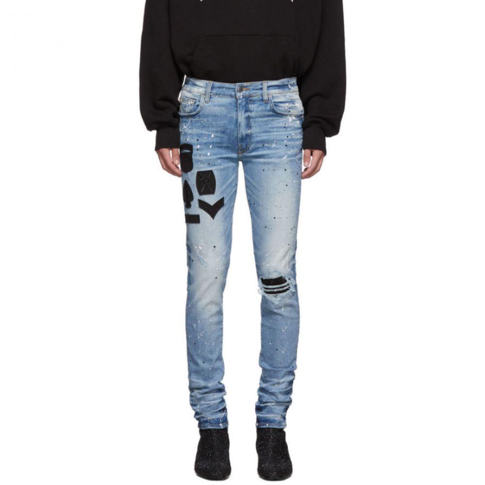 アミリ Amiri メンズ ジーンズ・デニム ボトムス・パンツ【Indigo Painted Military Patch Jeans】Medium crafted indigo