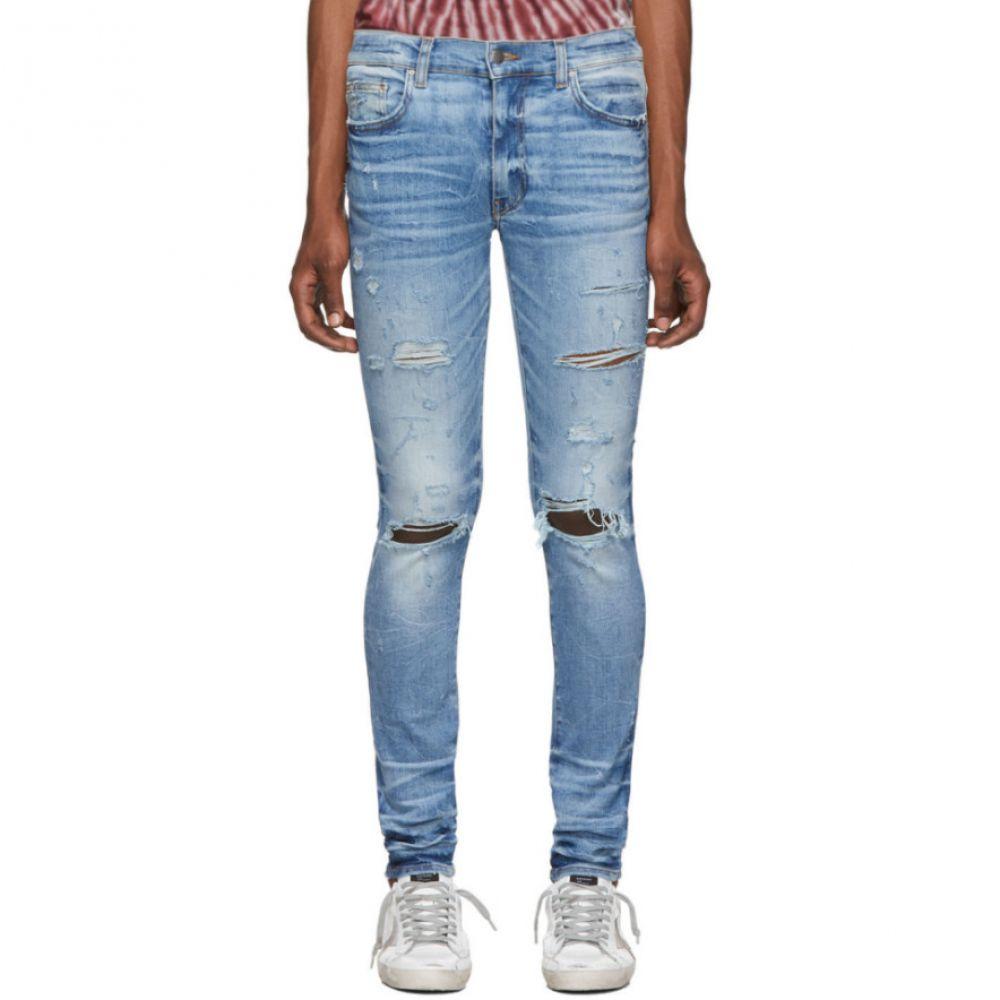 アミリ Amiri メンズ ジーンズ・デニム ボトムス・パンツ【Indigo Thrasher Plus Jeans】Medium indigo