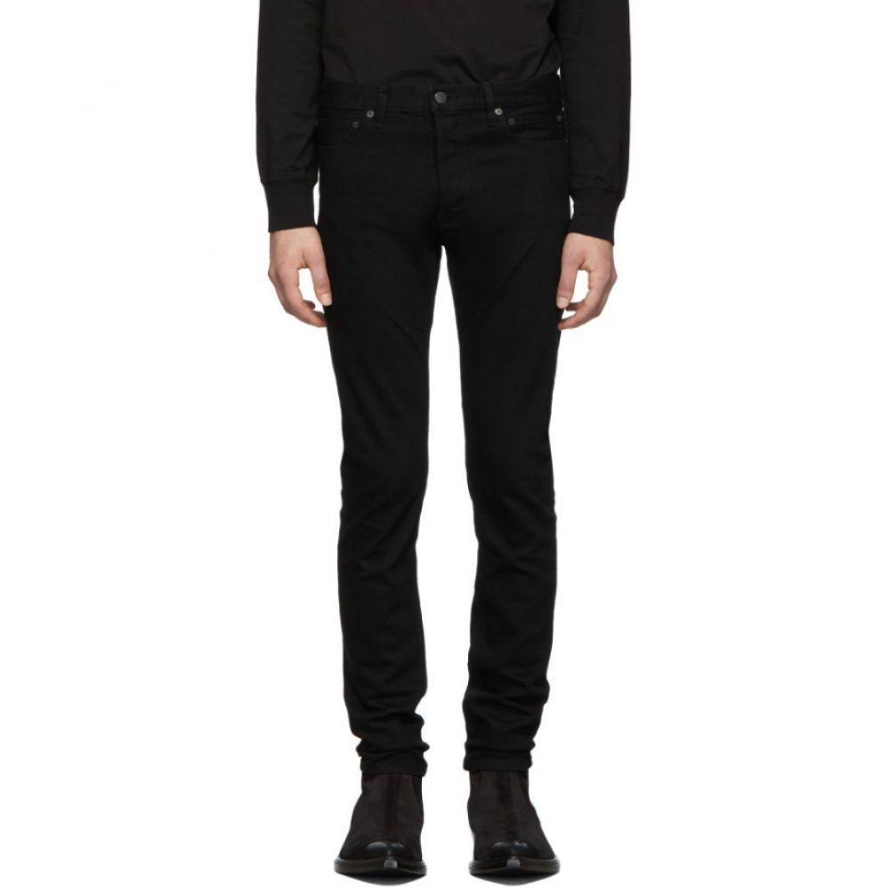 タカヒロミヤシタザソロイスト TAKAHIROMIYASHITA TheSoloist. メンズ ジーンズ・デニム ボトムス・パンツ【Black Stretch Slim Tapered Jeans】Black