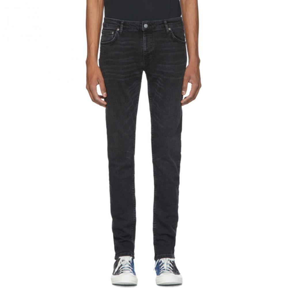 ヌーディージーンズ Nudie Jeans メンズ ジーンズ・デニム ボトムス・パンツ【Black Skinny Lin Jeans】Worn black