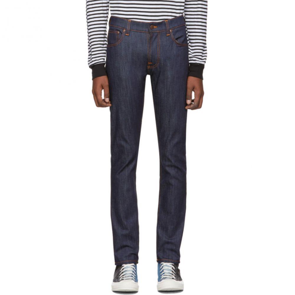 ヌーディージーンズ Nudie Jeans メンズ ジーンズ・デニム ボトムス・パンツ【Indigo Thin Finn Dry Jeans】Dry ecru embo