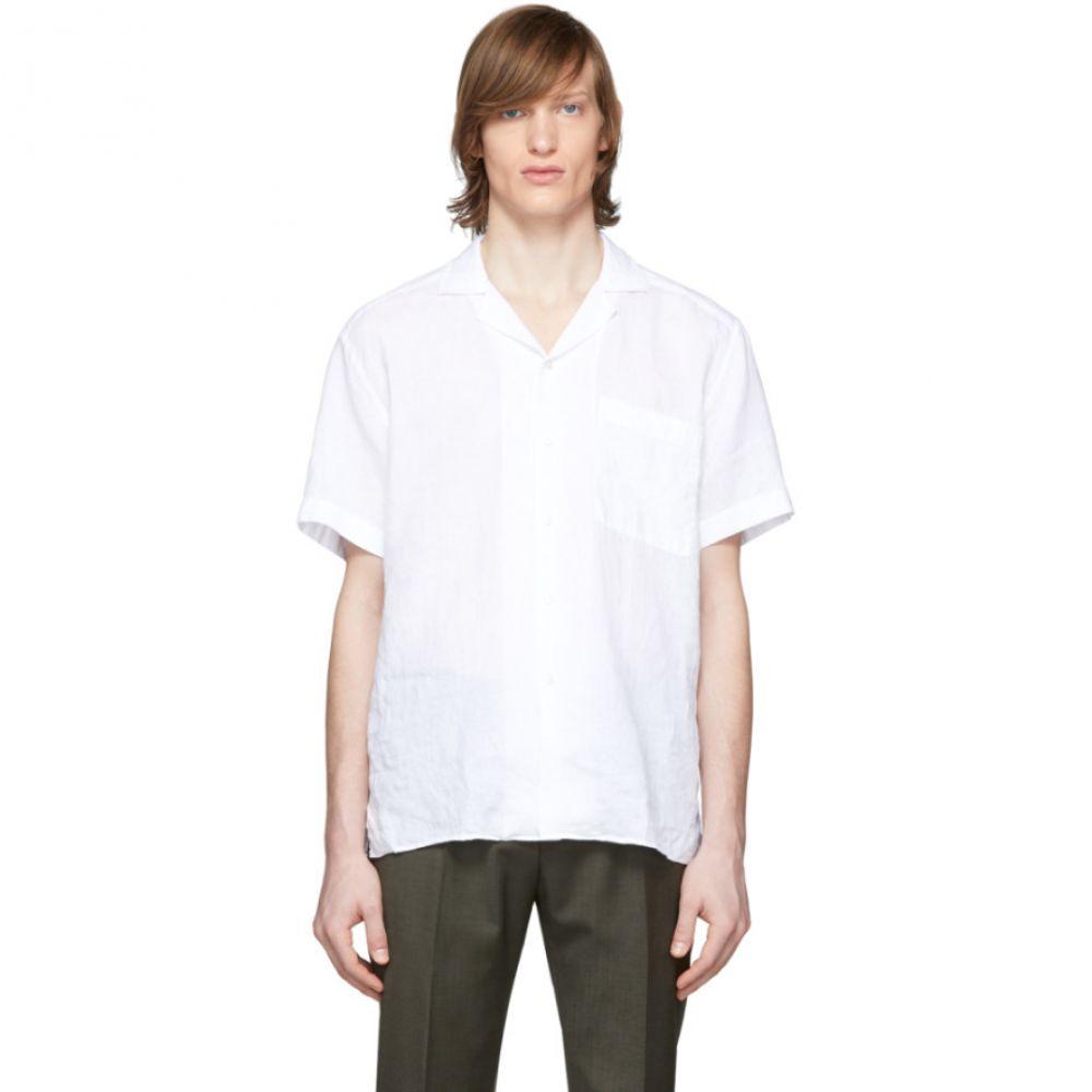 ヒューゴ ボス Boss メンズ シャツ トップス【White Linen Shirt】White