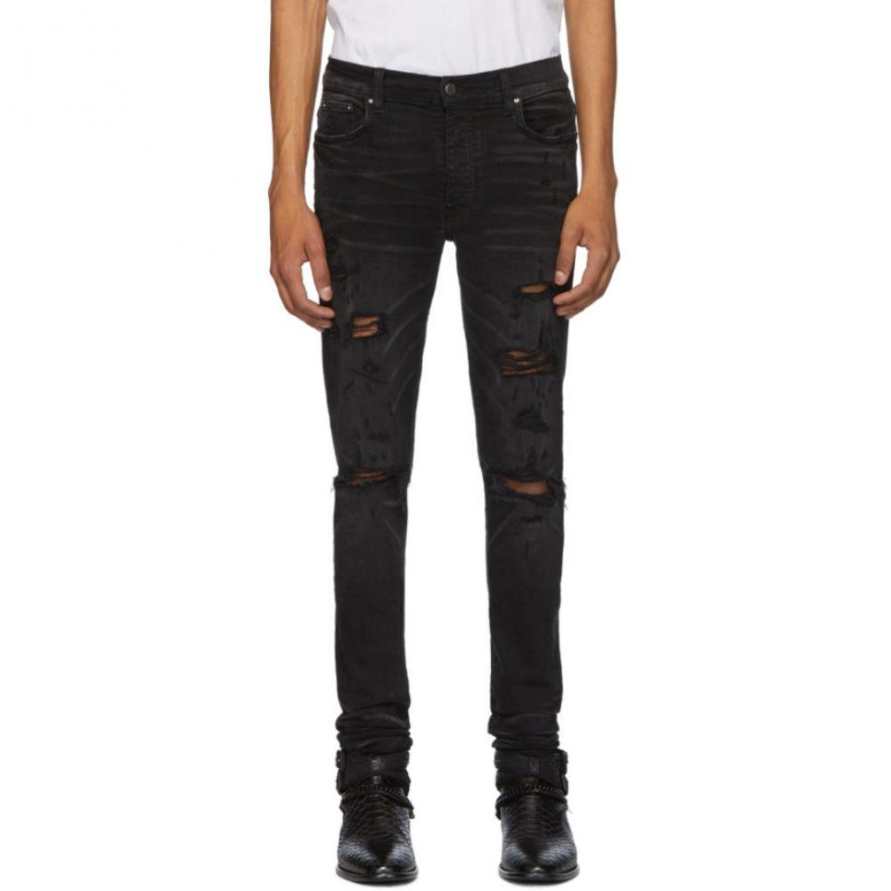 アミリ Amiri メンズ ジーンズ・デニム ボトムス・パンツ【Black Thrasher Plus Jeans】Aged black
