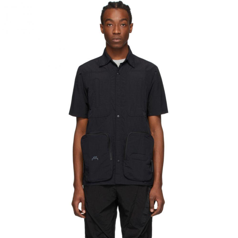 アコールドウォール A-Cold-Wall* メンズ 半袖シャツ トップス【Black Corbusier Padded Short Sleeve Shirt】Black
