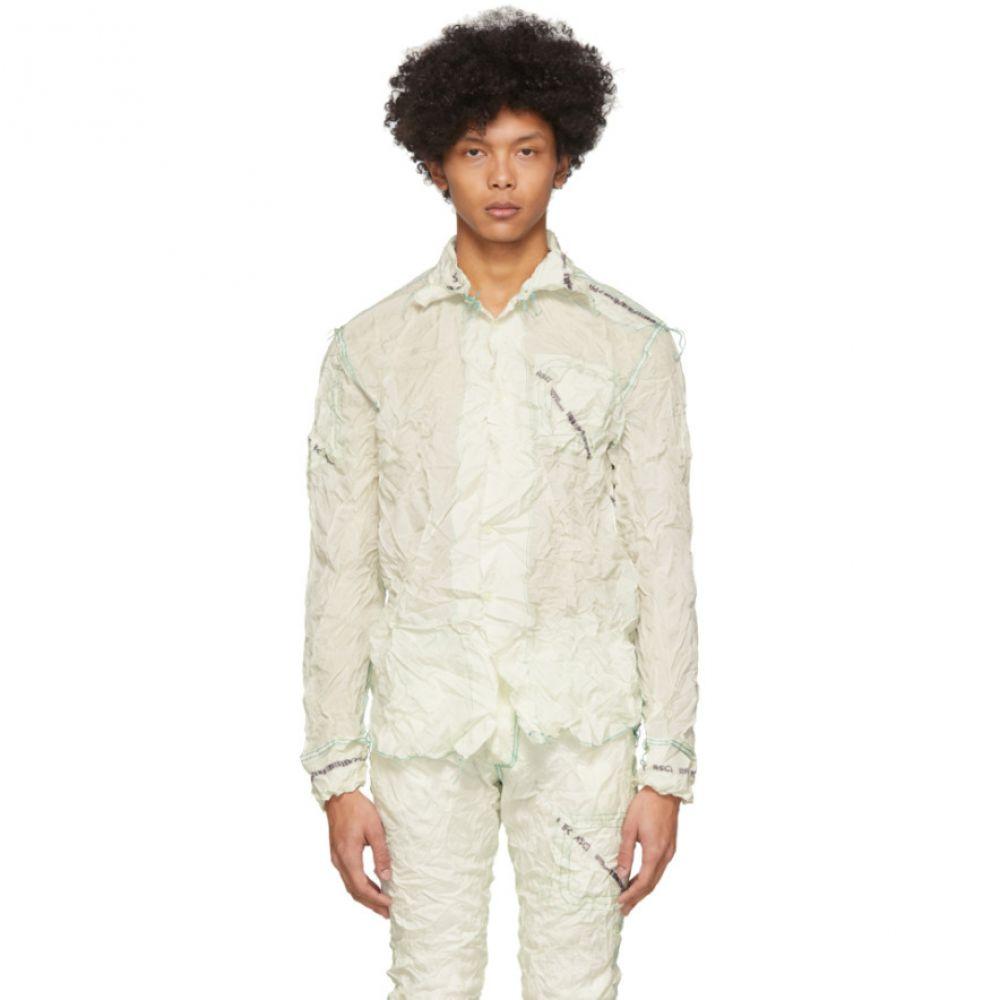 カンヒャク Kanghyuk メンズ シャツ トップス【Off-White Readymade Shrink Shirt】Sky blue