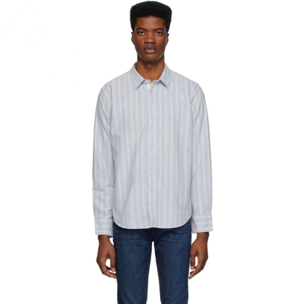 ラグ&ボーン rag & bone メンズ シャツ トップス【Blue Oxford Fit 2 Tomlin Shirt】Blue stripe