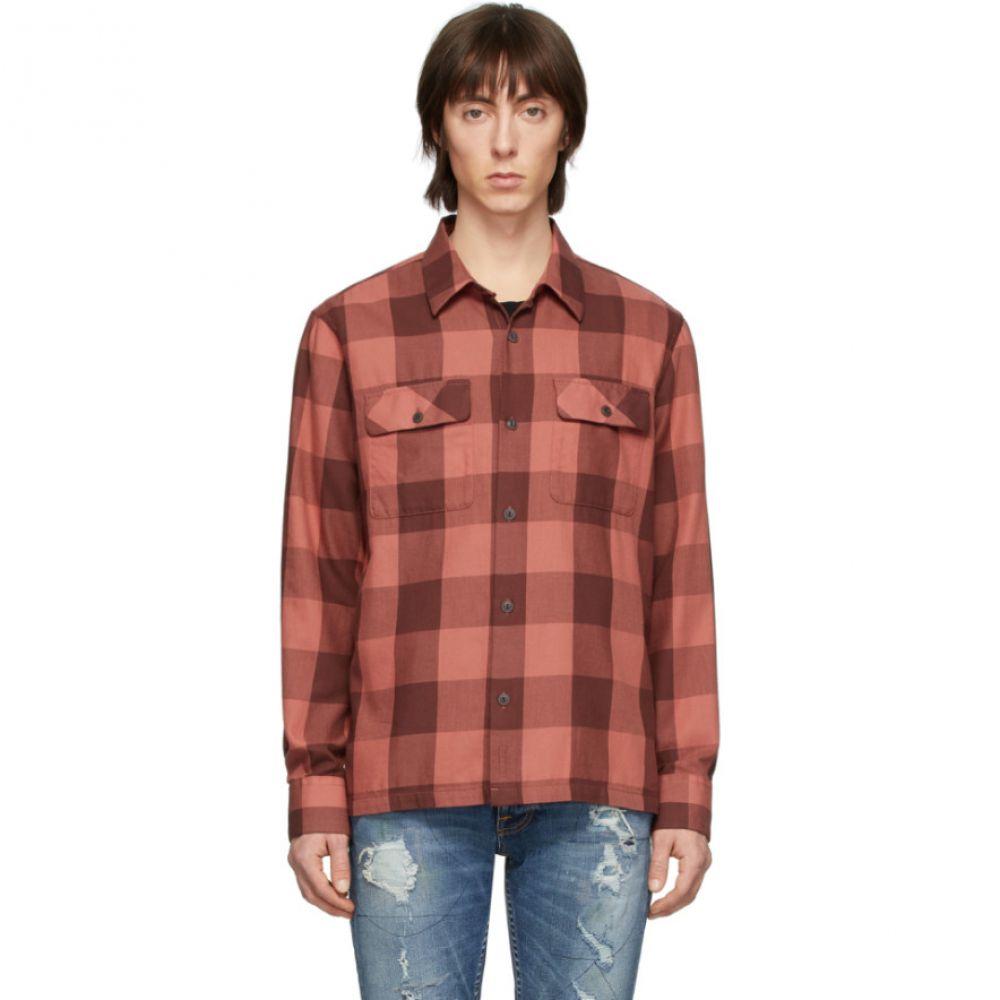 ヌーディージーンズ Nudie Jeans メンズ シャツ トップス【Red Block Check Sten Shirt】Dusty red