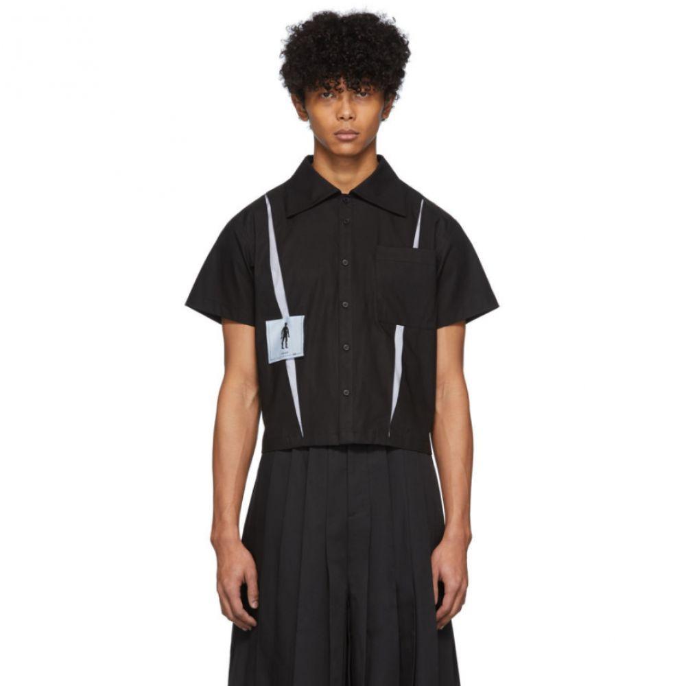 キーンキー Keenkee メンズ 半袖シャツ トップス【Black Kindergarten Short Sleeve Shirt】Black