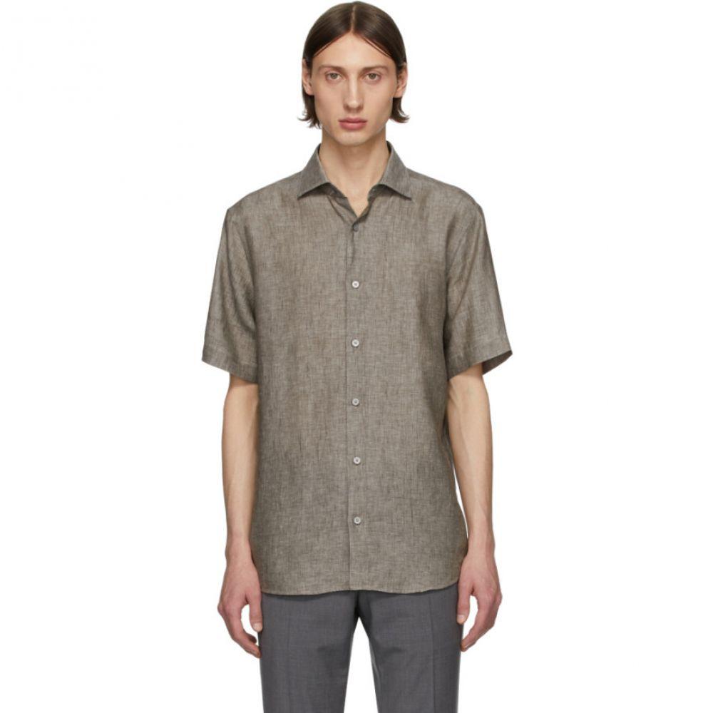 ジーゼニア Z Zegna メンズ シャツ トップス【Grey Linen Shirt】Grey
