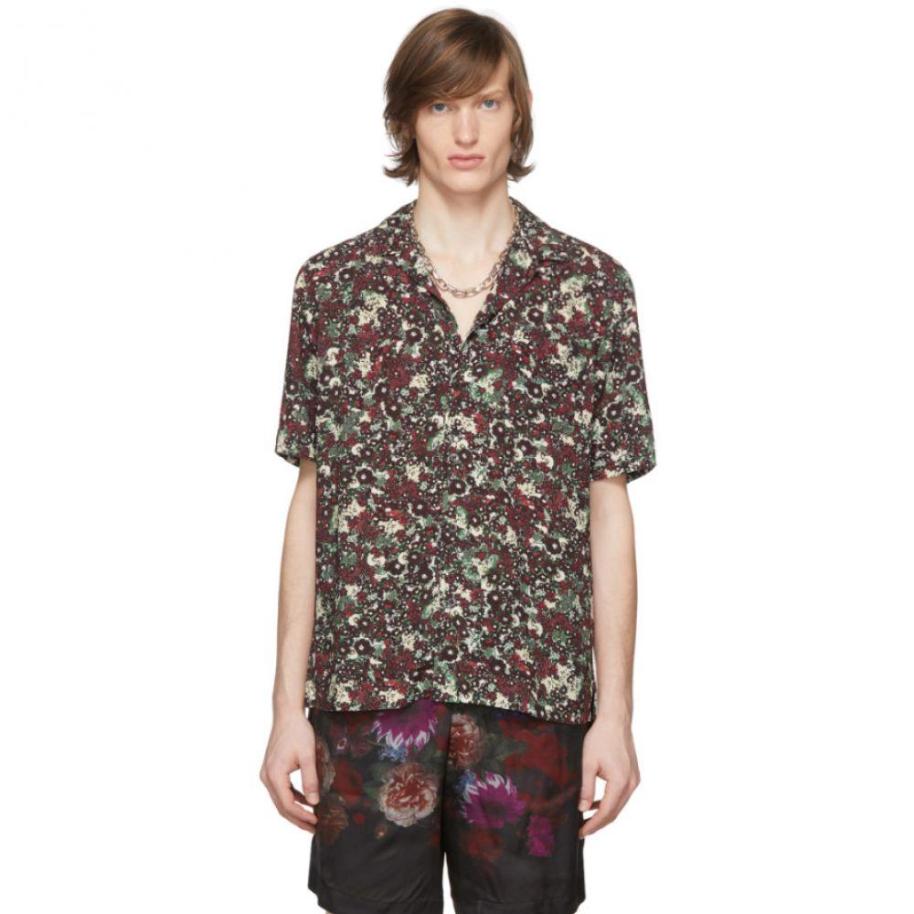 ドリス ヴァン ノッテン Dries Van Noten メンズ シャツ トップス【Burgundy Floral Pocket Shirt】Burgundy