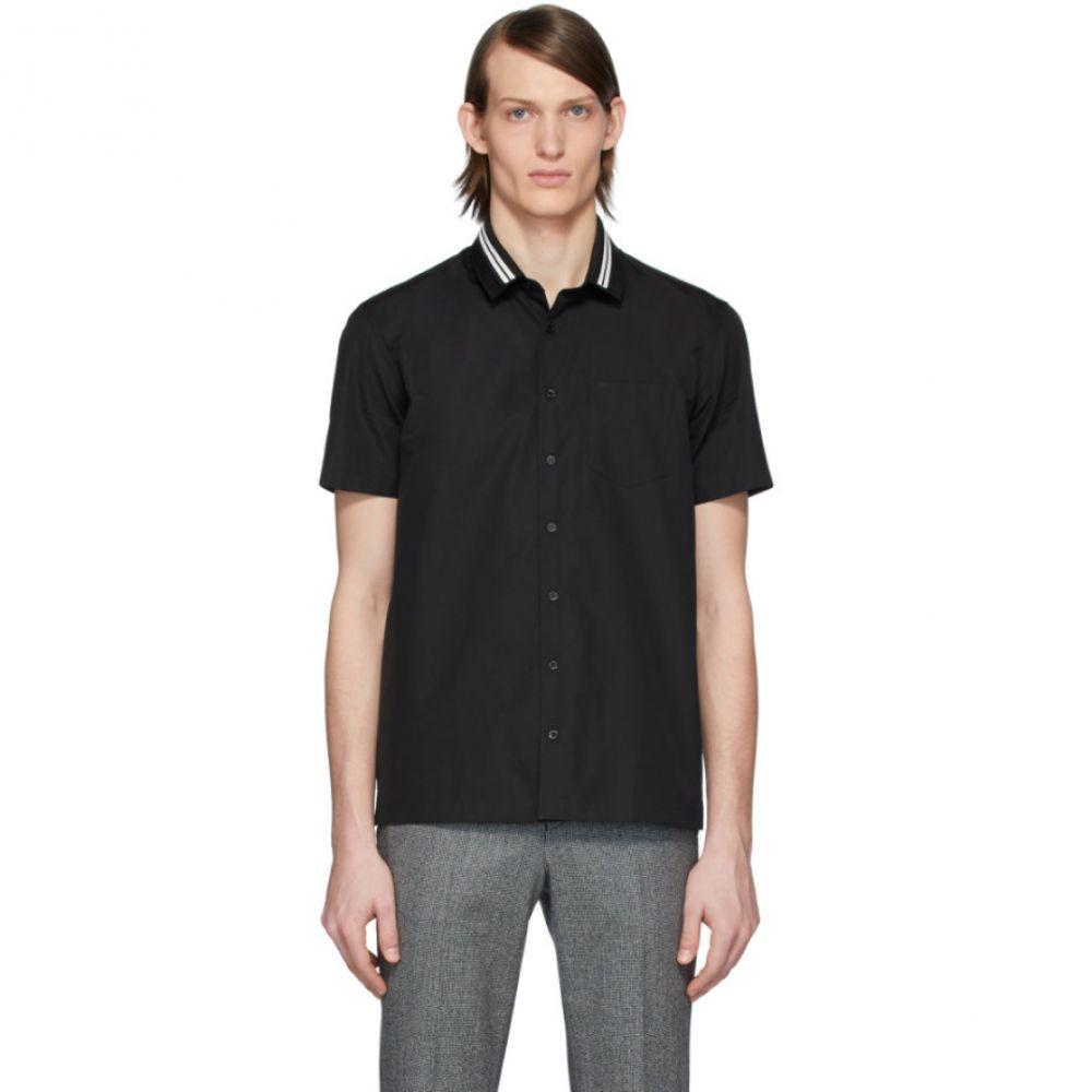 ニール バレット Neil Barrett メンズ シャツ トップス【Black Rib Neck Shirt】Black