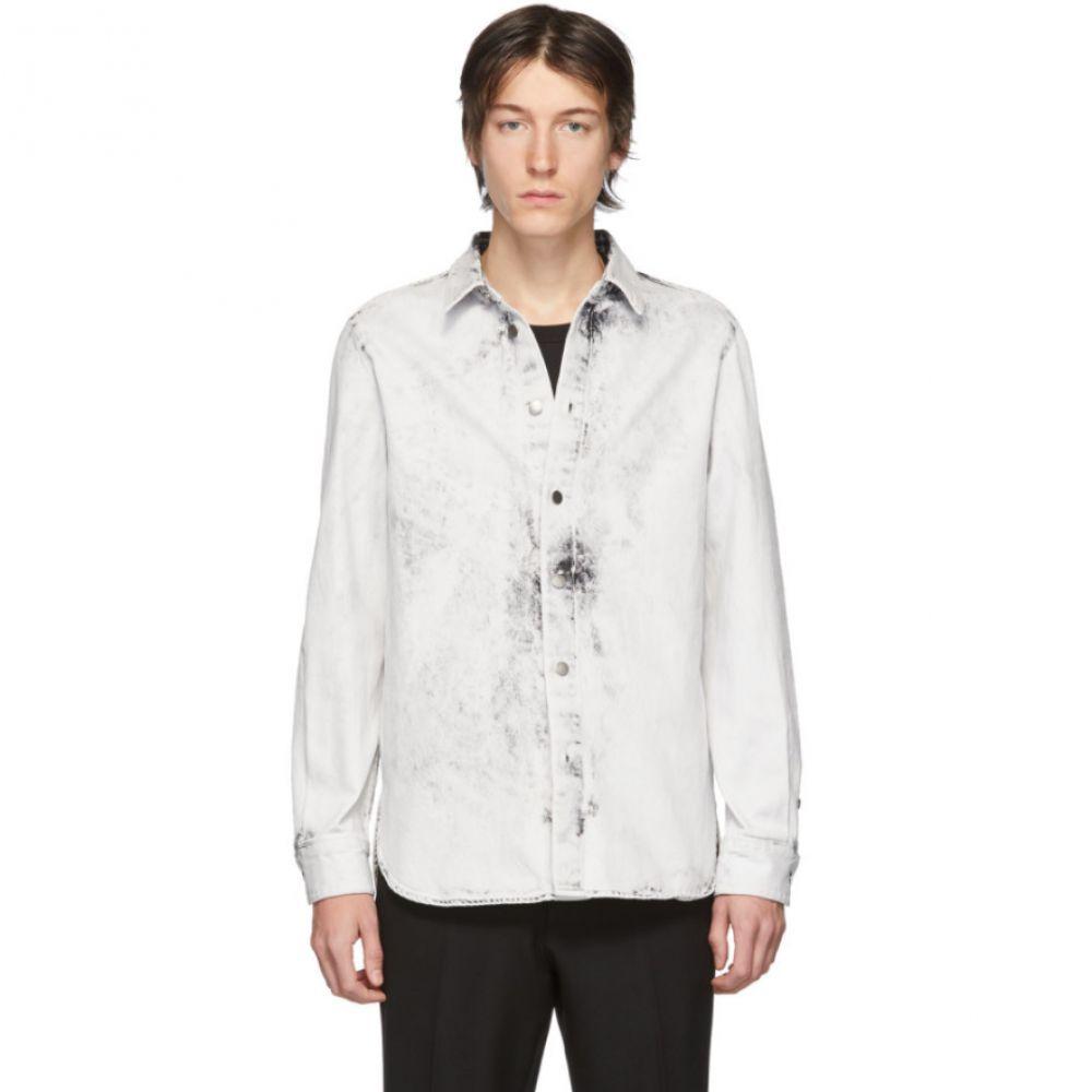 ステラ マッカートニー Stella McCartney メンズ シャツ デニム トップス【White Denim Nicolas Shirt】White galaxy wash